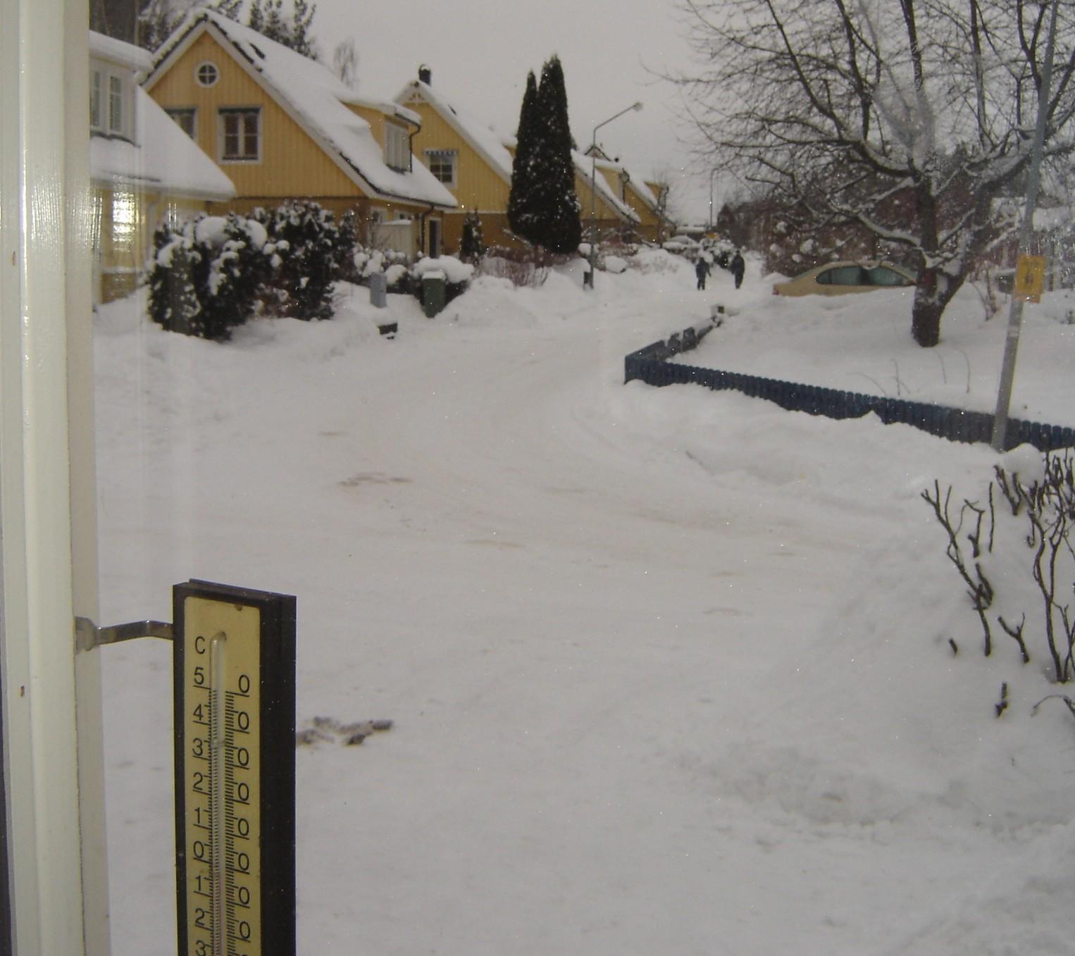 Vinterlandskapet utanför vår dörr